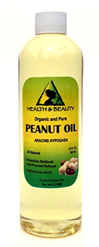 Peanut Oil Refined Organic Carrier Cold Pressed 100% Pure 36 oz