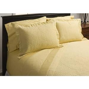 Melange Home Microfiber Trapunto Quilt, Sunshine, King