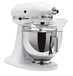 KitchenAid KSM100PSWH Ultra Power Plus Stand Mixer, White