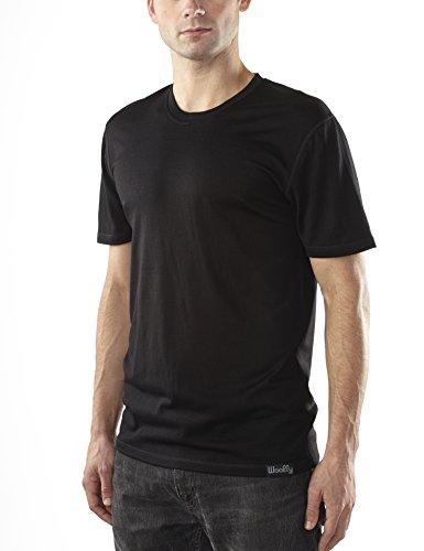 Lana Abbigliamento Co. Girocollo a maniche corte Uomo Merino lana (190g/mq) Black X-Large