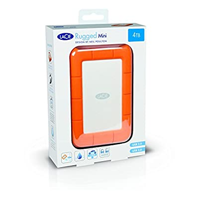 LaCie Rugged Mini USB 3.0 / USB 2.0 4TB External Hard Drive (LAC9000633)