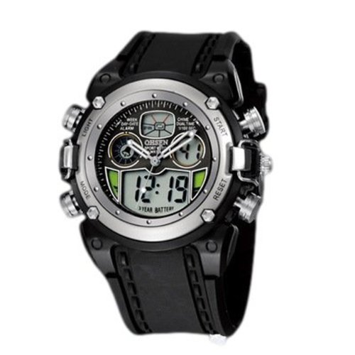 Stylish sports watch! Parallel imports (black, mens)
