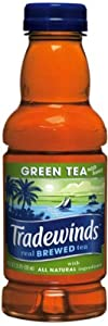 Tradewinds Green Tea with Honey, 20-Ounce (Pack of 12)