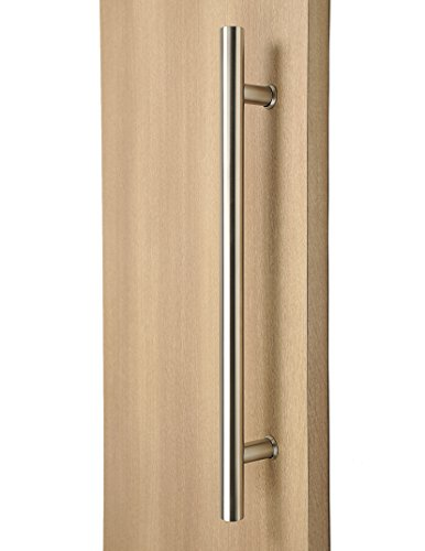 Modern & Contemporary Round Bar / Ladder / H-shape Style 457mm / 18 inches Push-pull Stainless-steel Door Handle - Satin Brushed Finish (Long Handle Door compare prices)