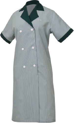 Uniform Works HKDF-HUN-XL Junior Cord Women's Housekeeping Dress, Hunter, XL