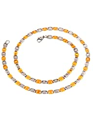 The Jewelbox Mens Stainless Steel Gold Rhodium Designer Italian Link Chain 22.5""
