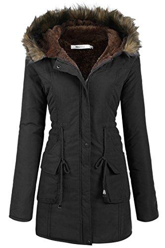 Meaneor Giubbotti per la donna maglia con cappuccio giacche cappotto invernale