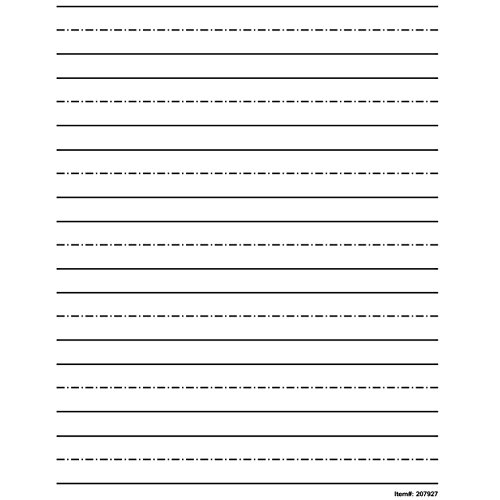 Low Vision Practice Writing Paper- Bold Line - 1