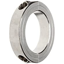 Climax Metal 2C-275-S Two-Piece Clamping Collar, Stainless Steel, 2-3/4&#034; Bore, 4&#034; OD, 7/8&#034; Width