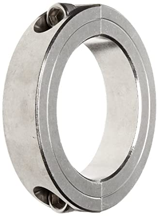 "Climax Metal 2C-275-S Two-Piece Clamping Collar, Stainless Steel, 2-3/4"" Bore, 4"" OD, 7/8"" Width"