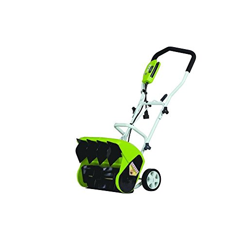Best Prices! GreenWorks 26022 10 Amp 16 Corded Snow Thrower with Adjustable Handle Bar