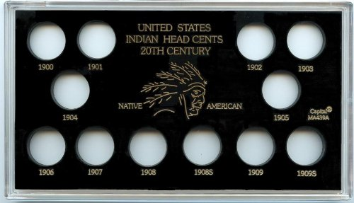 Capital Plastics United States Indian Head Cents 20th. Century Coin Holder - Black
