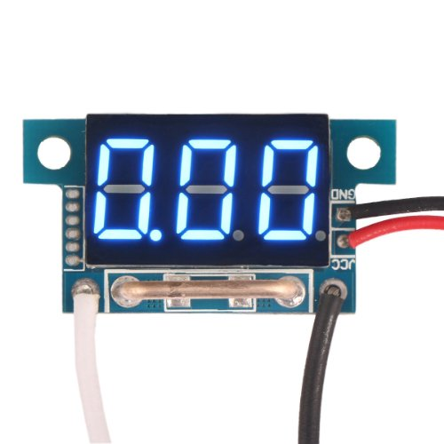 "Drok 0.36"" Digital Ammeter Dc Current Monitor Led Display Ampere Panel Meter (0-10A Blue)"