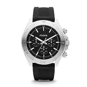 Fossil Retro Traveler Chronograph Silicone Watch - Black Ch2851