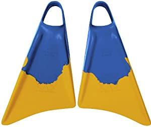 Churchill Makapuu Bodyboard Swim Fins Black Yellow - Medium Large 9-10 1 2 by Morey