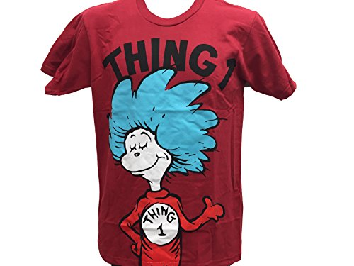 Dr. Seuss Men's Thing 1 Cat in the Hat Movie T shirt