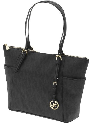 Michael Kors Jet Set East/West Top Zip Tote Black