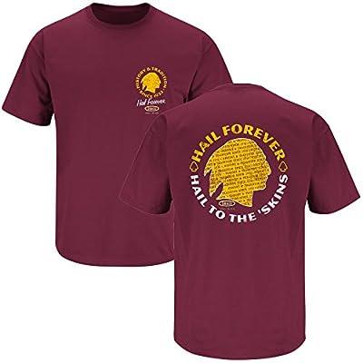 Washington Redskins Fans. Hail to the 'Skins Maroon T-Shirt (S-5X)