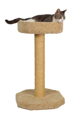 """Molly and Friends """"Feline Recliner"""" Premium Handmade One Tier Sisal Cat Scratching Post Furniture with Bed, Model Scr/b, Beige"""