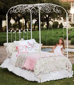 princess canopy double bed