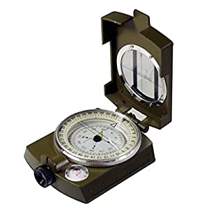 SE CC4580 Military Lensatic Sighting Compass with Pouch
