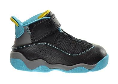 Buy Jordan 6 Rings (TD) Baby Toddlers Basketball Shoes Black Varsity Maize-Cool... by Jordan