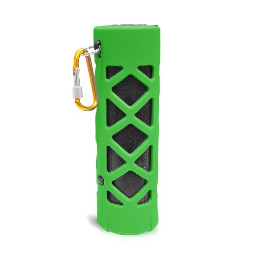 Pyle Pwpbt30Gn Bluetooth Water Resistant Flashlight Speaker With Call Answering Mic, Fm Radio, Micro Sd Reader And Aux-Input (Green)
