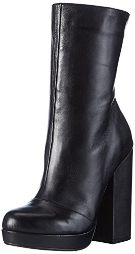 Buffalo London414-1109 SILK LEATHER - Stivali a metà polpaccio con imbottitura leggera Donna , Nero (nero (black 01)), 39 EU
