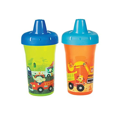 The First Years Simple Sippy Cup - 9oz, 2 pack, Orange and Green by The First Years (The First Years 2 Pack Sippy Cup compare prices)