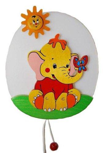 Wandlampe Kinder Kinderzimmer Holz Kinderlampe Leuchte Elefant Lampe