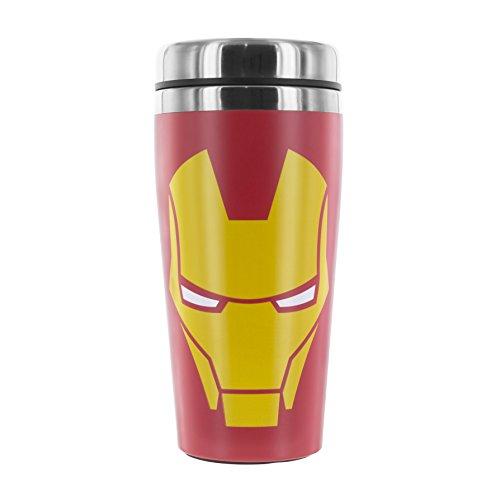 Marvel - Tazza da viaggio, in acciaio inossidabile, motivo: Iron Man, multicolore