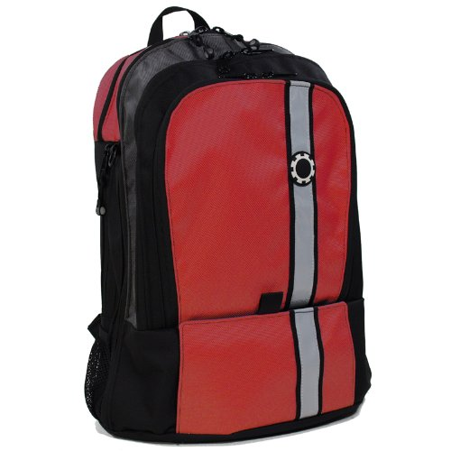 dadgear backpack diaper bag red retro stripe designer. Black Bedroom Furniture Sets. Home Design Ideas