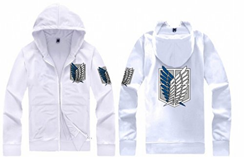 Easy Men Quality Cos Printing Long Sleeve Hooded Cardigan Sweater 4Xl White