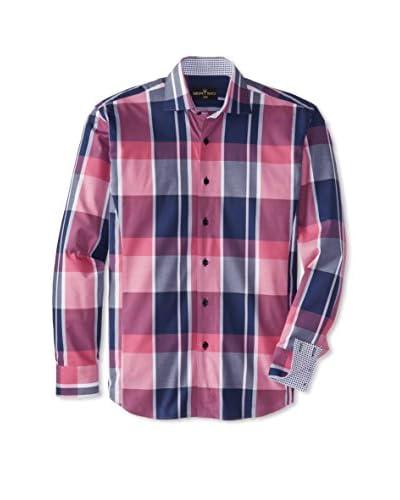 Bertigo Men's Plaid Long Sleeve Shirt