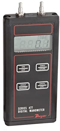 Dwyer Series 477 Handheld Digital Manometer, Intrinsically Safe, FM Approved