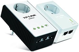 TP-LINK TL-WPA4230P KIT - Extensor de red WiFi por línea eléctrica (WiFi,  2 x con enchufe, AV500, 5 puertos, sin configuración)