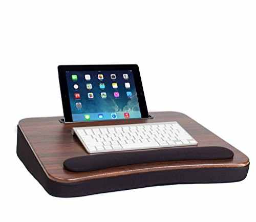 Sofia + Sam All Purpose Memory Foam Lap Desk (Wood Top) with Tablet Slot | Supports Laptops Up To 17 Inches (Lap Tablet Stand compare prices)