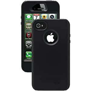 Otterbox Impact Series Silicone Case for iPhone 4 & 4S  - Retail Packaging - Black