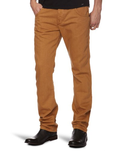 Wrangler Spencer Straight Men's Trousers Tobacco Brown W32 INxL32 IN