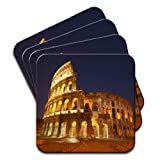 Roman Colosseum in Rome Italy Set Of 4 Premium Wooden Coasters