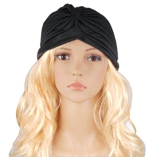 TOOGOO(R) Schwarz Neu FULL HEAD HEAD WRAP TURBAN INDIAN STYLE BANDANA HAT HAARAUSFALL CHEMO