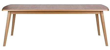 Table à manger 220 en bois Cambridge, H 76 x L 223 x P 89 cm - PEGANE -
