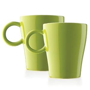 Amazon.com: Lucca 2pc Ceramic Mugs by Tea Forte - Pistachio Green ...