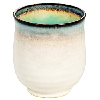 White and Aqua Tea Cup