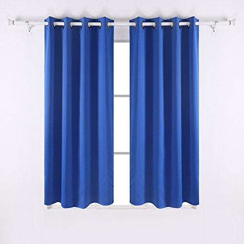 Deconovo Grommet Top Thermal Insulated Window Blackout Curtains ...
