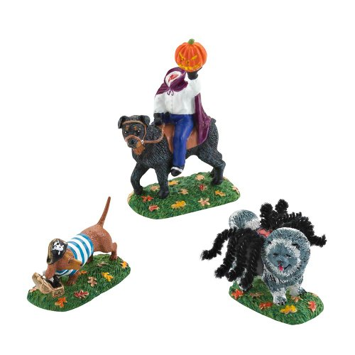 Department 56 4025412 Halloween Accessories for Dept 56 Village Collections Who Let The Dogs Out Village Accessory, 2.44-Inch
