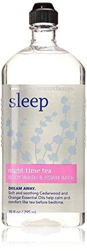 Bath & Body Sleep Night Time Tea Body Wash & Foam Bath 10 Oz Bath Time Body