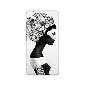 Mobicture Girl Abstract Premium Printed Case For Nokia Lumia 540