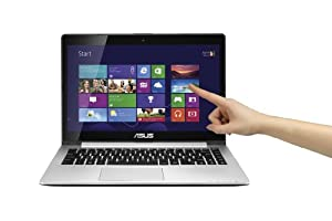 ASUS S400CA-RH51T-CA 14.1-Inch Touch-screen Laptop (Intel i5-3317u, 4GB DDR3, 500GB + 24G SSD, Windows 8) (Black)
