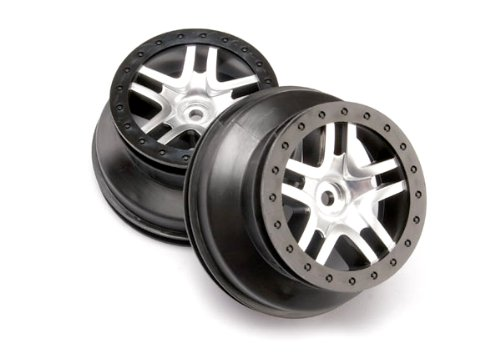 Traxxas 6872 SCT Split-Spoke Wheels Chrome, Slash 4X4, 2-Piece